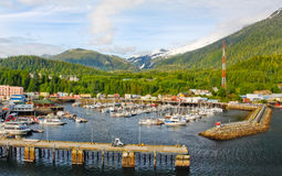 Alaska Ketchikan Small Boat Harbor Stock Images