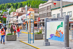 Alaska Ketchikan Visitors and Street Map Stock Photo