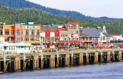 Alaska Ketchikan Waterfront Royalty Free Stock Photography