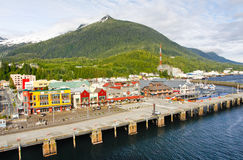 Alaska Ketchikan Waterfront Harbor Stock Images