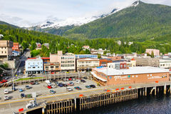 Alaska Ketchikan Waterfront Shopping Royalty Free Stock Images