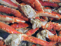 Alaska King crab. Legs on a farm market booth Stock Photography