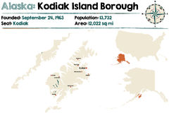 Alaska: Kodiak Island Borough Royalty Free Stock Images