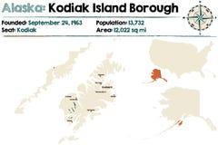 Alaska: Kodiak wyspy podgrodzie ilustracji