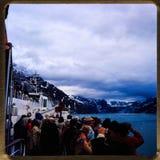 Alaska-Kreuzfahrt 35 Millimeter-Dias ` s Ausflüge der Weinlesereise 1970 und -familie Stockbilder