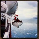 Alaska-Kreuzfahrt 35 Millimeter-Dias ` s Ausflüge der Weinlesereise 1970 und -familie Lizenzfreie Stockbilder