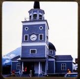 Alaska-Kreuzfahrt 35 Millimeter-Dias ` s Ausflüge der Weinlesereise 1970 und -familie Stockfoto