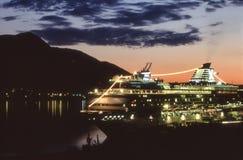 alaska kryssningjuneau ship Royaltyfri Foto