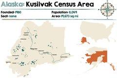 Alaska: Kusilvak spisu ludności teren ilustracji