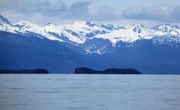 Alaska kustlinje på Juneau Arkivbild