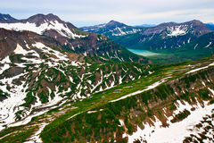 Alaska landscape aerial view Royalty Free Stock Photo
