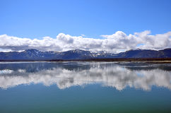 Alaska landscape blue sky reflections in water Royalty Free Stock Photography