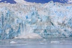 Alaska Landscape Calving Hubbard Glacier Stock Image