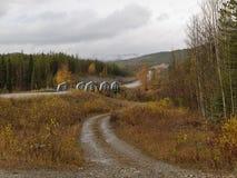 Alaska-Landstraße Lizenzfreies Stockbild