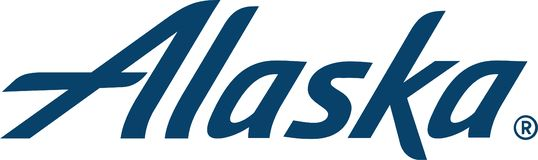 Alaska linii lotniczej logo ikona ilustracja wektor