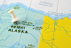 Alaska map Royalty Free Stock Photography