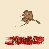 Alaska martwił mapę Zdjęcie Stock