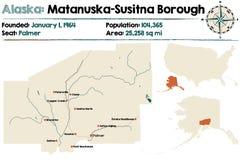 Alaska: Matanuska-Susitna podgrodzie ilustracji