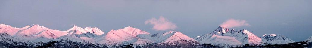 Alaska mountain peak panorama stock images