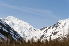 Alaska Mountain Range. Mountain range at the Portage Bay in Alaska Royalty Free Stock Photo