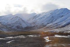 alaska mountain with snow Royalty Free Stock Image