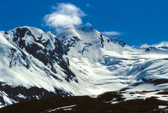 Alaska Mountains. In southern Alaska, in the spring stock photos