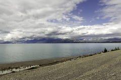 Alaska, mountains and the lake Stock Photo