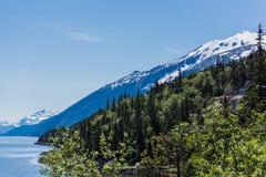 Snow Topped Mountains Alaska Royalty Free Stock Photos