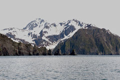 Alaska Mountains, Seward Fjords Royalty Free Stock Photo