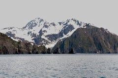 Alaska Mountains, Seward Fjords. Fjords of Seward Alaska from fishing boat Royalty Free Stock Photo