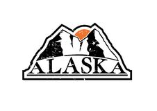 Alaska Mountains. Symbol. Easy to edit, easy to choose with or without texture stock illustration