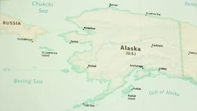 Alaska na mapie z defocus