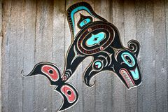 Alaska natives carving Royalty Free Stock Photography