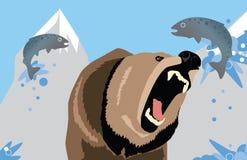 Alaska niedźwiedź Ilustracji