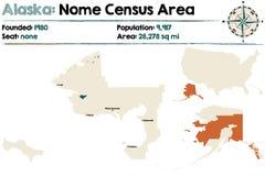 Alaska: Nome spisu ludności teren ilustracja wektor