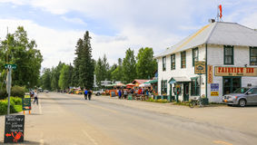 Alaska North Main Street Downtown Talkeetna Royalty Free Stock Photography