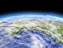 Alaska od przestrzeni Fotografia Royalty Free