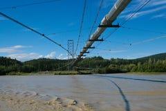 Alaska Oil Pipeline. A photo of the Alaska Oil Pipeline crossing the Tanana River Royalty Free Stock Photos
