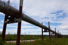 Alaska oil pipeline. Oil pipeline near Dalton highway in Alaska royalty free stock image