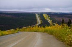 Alaska oljepipeline royaltyfri fotografi