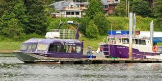 Alaska -  Orca Whale Watch Boats Auke Bay Royalty Free Stock Image