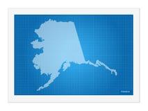 Alaska på ritning vektor illustrationer