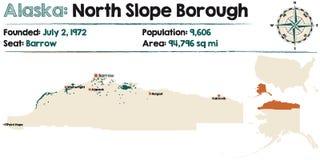 Alaska: Północny skłonu podgrodzie royalty ilustracja