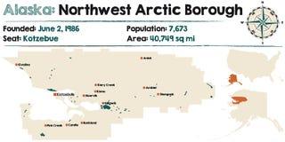 Alaska: Północnego zachodu Arktyczny podgrodzie royalty ilustracja