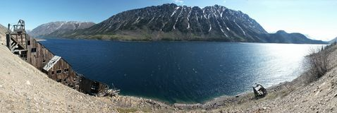 Alaska Panorama. A panoramic view from the Klondike Highway in Carcross, Alaska royalty free stock photography