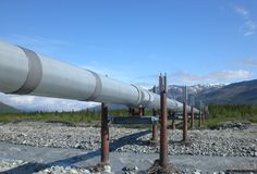 alaska pipeline Arkivbilder