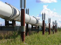 Alaska pipeline royalty free stock image