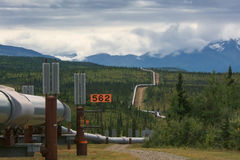 Alaska Pipeline royalty free stock images