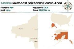 Alaska: Południowo-wschodni Fairbanks spisu ludności teren Zdjęcie Royalty Free