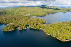 Alaska Prince of Wales island aerial view Royalty Free Stock Photography